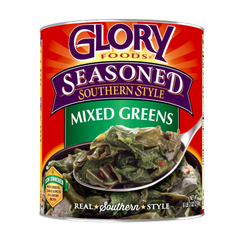 Glory Seasoned Southern Style Mixed Greens Perspective: front