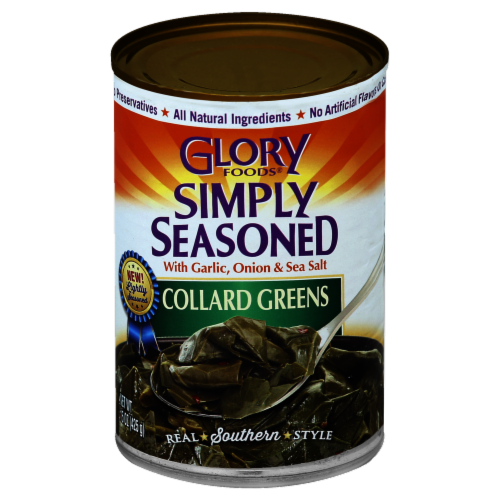 Glory Foods Simply Seasoned Collard Greens Perspective: front
