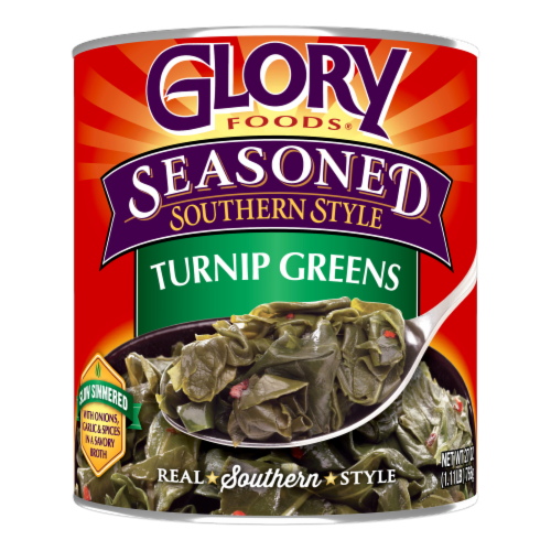 Glory Foods Seasoned Southern Style Turnip Greens Perspective: front