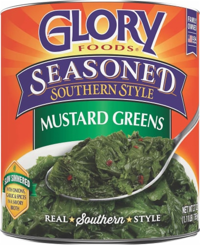 Glory Foods Seasoned Southern Style Mustard Greens Perspective: front