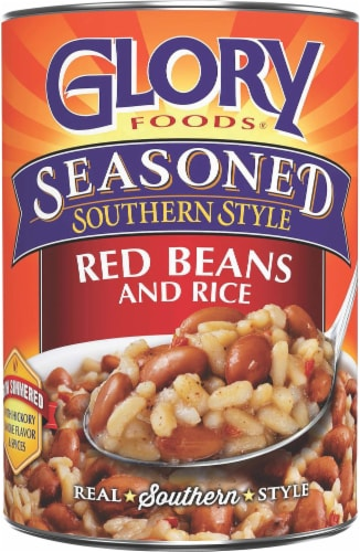 Glory Foods Seasoned Southern Style Red Beans And Rice Perspective: front