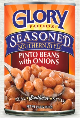 Glory Foods Seasoned Southern Style Pinto Beans Perspective: front