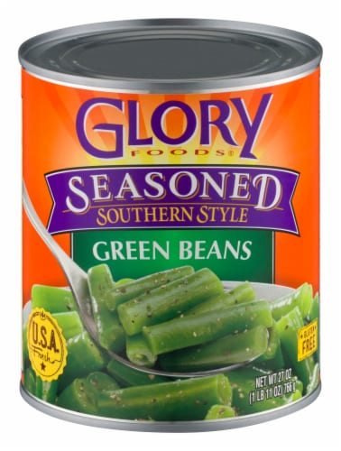 Glory Foods Seasoned Southern Style Green Beans Perspective: front