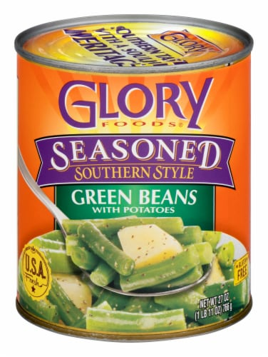 Glory Foods Seasoned Southern Style Green Beans With Potatoes Perspective: front