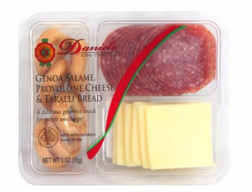 Daniele Genoa Salame Provolone Cheese and Taralli Bread Perspective: front