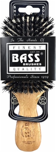 Bass Brushes - Classic Club Style With Firm Natural Bristles Perspective: front