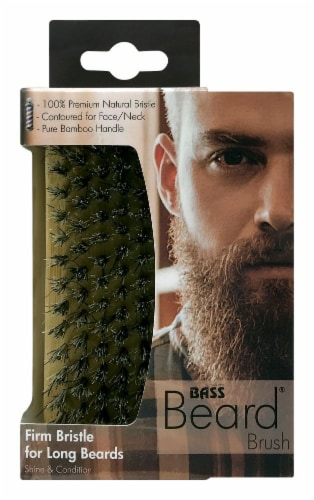 Bass Brushes Firm Bristle Beard Brush Perspective: front