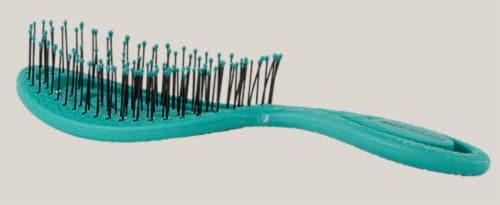 Bass Bio-Flex Swirl Shape Hairbrush - Teal Perspective: front