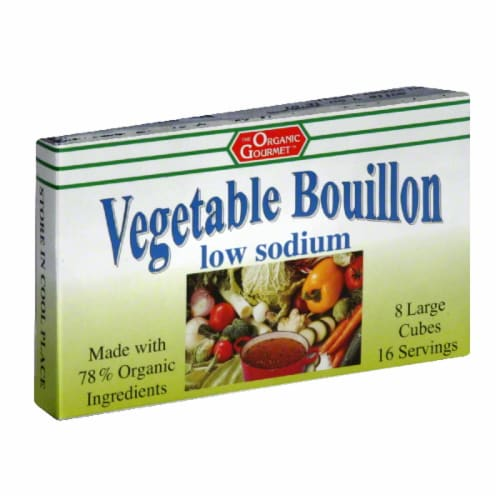 The Organic Gourmet Vegetable Bouillon Low Sodium Perspective: front