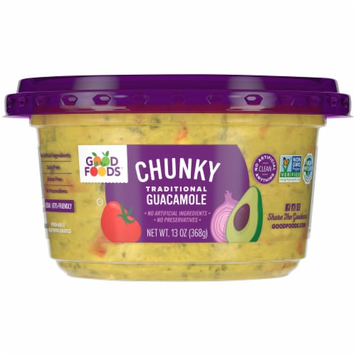 Good Foods™ Chunky Traditional Guacamole Perspective: front