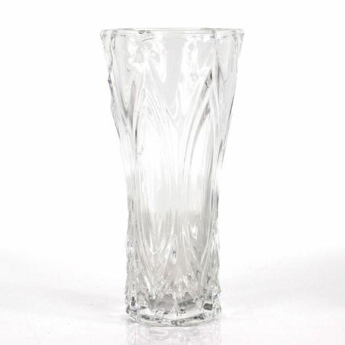 CBK Fancy Cut Glass Vase - Clear Perspective: front