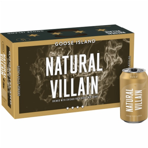 Goose Island Natural Villain Garage-Style Lager Perspective: front
