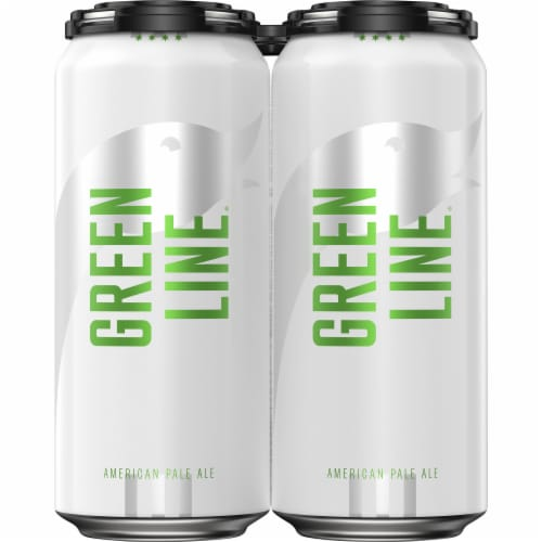 Goose Island Green Line Pale Ale Cans Perspective: front