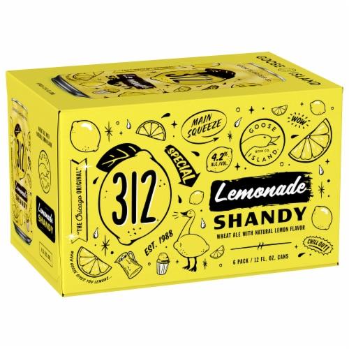Goose Island Lemonade Shandy Wheat Ale Beer Perspective: front