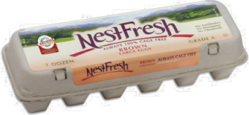 Nest Fresh Cage Free Grade A Large Brown Eggs Perspective: front