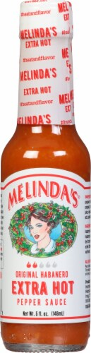 Melindas Extra Hot Pepper Sauce Perspective: front