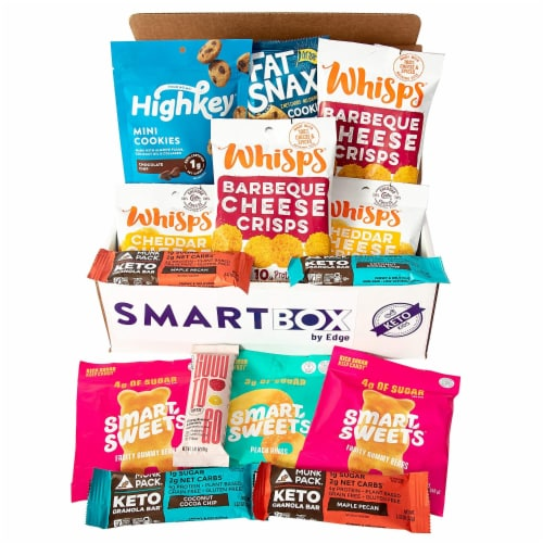 Snack Box and Care Package | Low Carb and Keto Friendly Gift or Snack Set (Keto Kids) Perspective: front