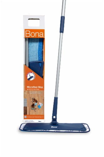 Bona Microfiber Hard Surface Floor Mop - Blue Perspective: front