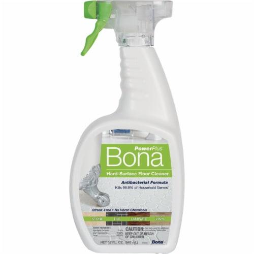 Bona  PowerPlus  Hard Surface Floor Cleaner  Liquid  32 oz. - Case Of: 8; Perspective: front