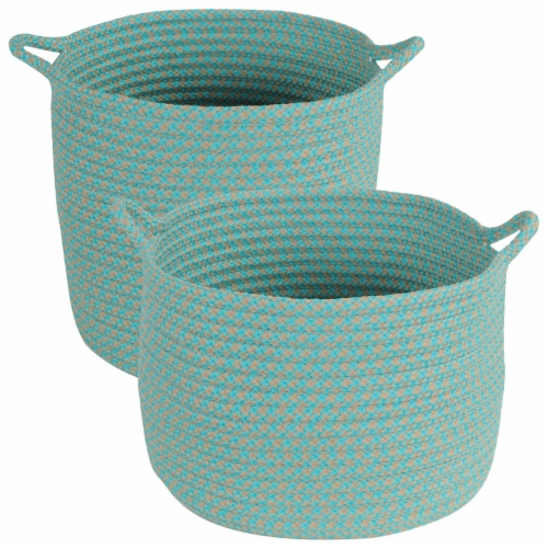 Colonial Mills Outdoor Storage Baskets - Set of 2 Perspective: front