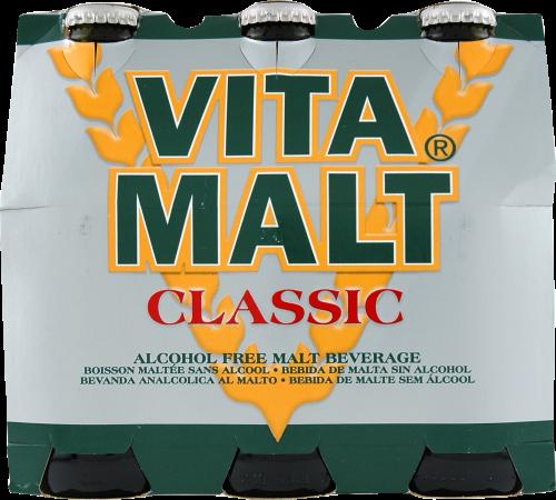 Vita Malt Alcohol-Free Malt Beverage Perspective: front