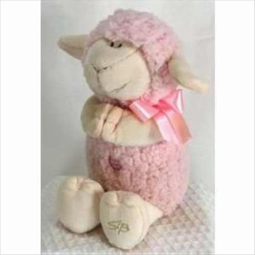 Stephan Baby 133813 Toy Plush Musical Lamb Jesus Loves Me 11 In. PinkPack of 4 Perspective: front