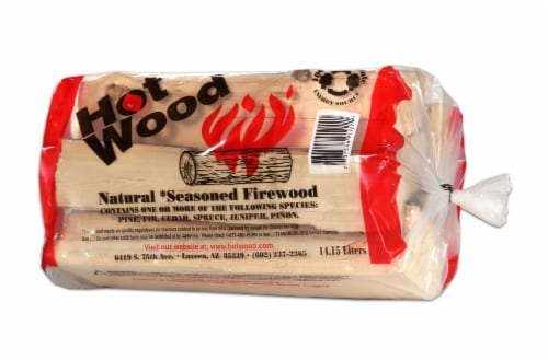 Hot Wood Natural Seasoned Firewood Perspective: front