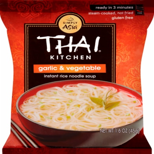 Thai Kitchen Garlic & Vegetable Instant Rice Noodle Soup Perspective: front