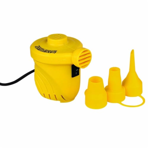Airhead 12V Hi Output Volume Portable Air Pump Inflatables Towables | AHP-12H Perspective: front