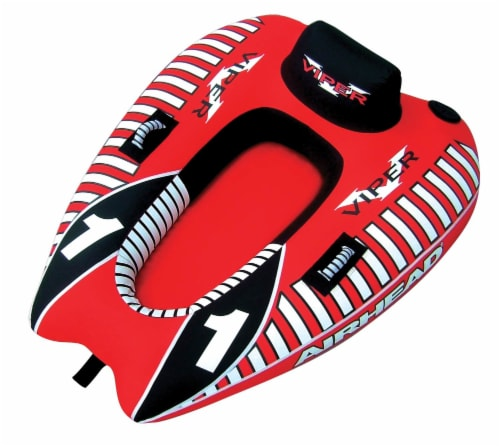 Airhead AHVI-F1 Viper 1 Single Rider Cockpit Inflatable Lake Water Towable Tube Perspective: front