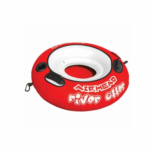 Airhead River Otter Single Rider Inflatable Float Lounge Lake Pool Tube   AHRO-1 Perspective: front