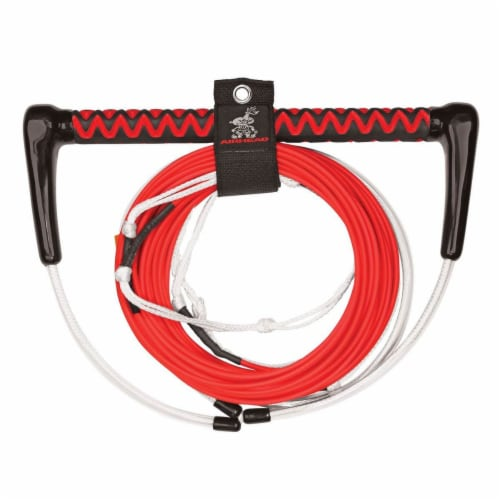 Airhead AHWR-8 Dyneema 70 Foot 4 Section Thermal Boat Wakeboard Tow Rope, Red Perspective: front
