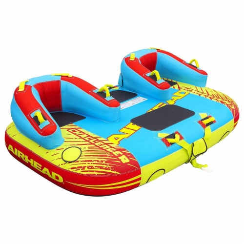 Airhead 1-3 Rider Challenger Inflatable Towable Boating Water Sports Lake Tube Perspective: front