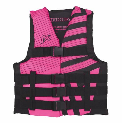Airhead Trend Life Jacket Vest for Kayaking & Boating, Adult 2-3XL (Pink/Black) Perspective: front