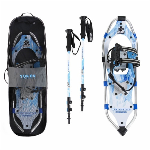 Yukon Charlie's Advanced 8 x 25 Inch Women's Snowshoe Kit with Poles and Bag Perspective: front