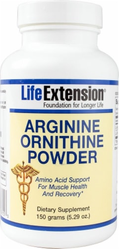 Life Extension  Arginine Ornithine Powder Perspective: front