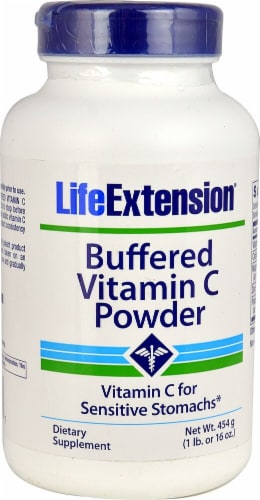 Life Extension Buffered Vitamin C Powder Perspective: front