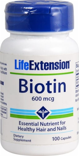Life Extension  Biotin Perspective: front