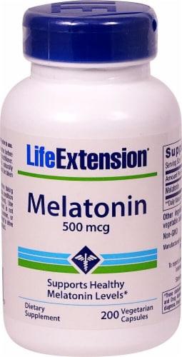 Life Extension Melatonin 500mcg Perspective: front