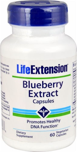 Life Extension  Blueberry Extract Capsules Perspective: front