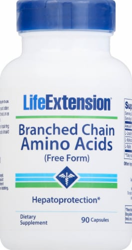Life Extension Branched Chain Amino Acids Free Form Perspective: front