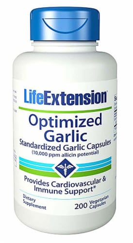 Life Extension  Optimized Garlic Perspective: front