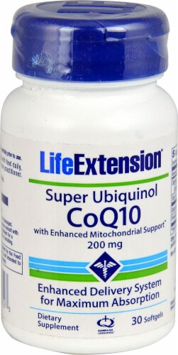 Life Extension  Super Ubiquinol CoQ10 Perspective: front