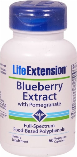 Life Extension Blueberry Extract with Pomegranate Perspective: front
