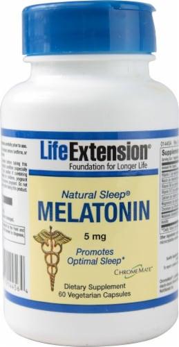 Life Extension Natural Sleep® Melatonin 5mg Perspective: front