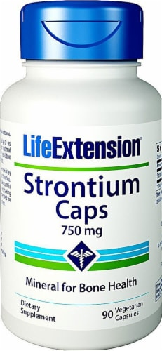 Life Extension Strontium Caps 750mg Perspective: front