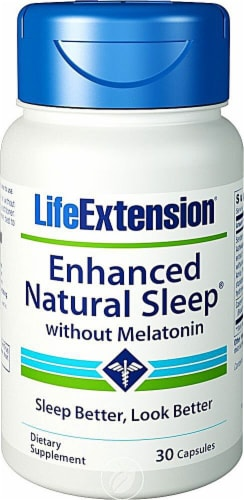 Life Extension  Enhanced Natural Sleep® without Melatonin Perspective: front