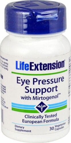Life Extension Eye Pressure Support Vegetarian Capsules Perspective: front