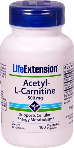 Life Extension Acetyl-L-Carnitine 500mg Perspective: front