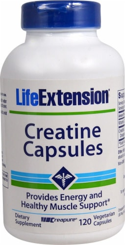 Life Extension  Creatine Capsules Perspective: front